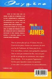 Pas Si Facile D'Aimer - 4ème de couverture - Format classique