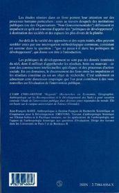 Regards Interdisciplinaires Sur Les Politiques De Developpement - 4ème de couverture - Format classique