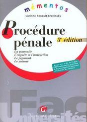 Memento procedure penale - Intérieur - Format classique