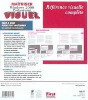 Maitriser Windows 2000 Professionnel - 4ème de couverture - Format classique