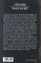 Gerard daucourt-une vie d'eveque - 4ème de couverture - Format classique