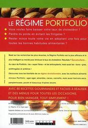 Le régime portfolio ; anticholestérol ; les bonnes combinaisons alimentaires 100% minceur et antifringales - 4ème de couverture - Format classique