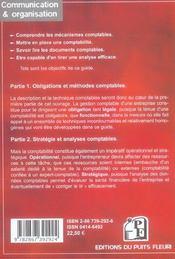 Comprendre et reussir sa comptabilite. methode et application - 4ème de couverture - Format classique