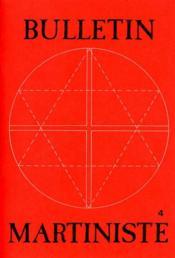 Bulletin Martiniste N.4 - Couverture - Format classique