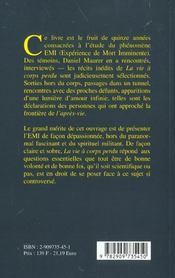 Vie A Corps Perdu - Emi - 4ème de couverture - Format classique