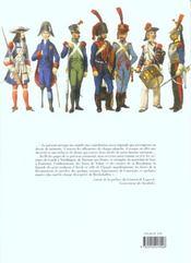 Les uniformes de l'armee francaise de 1660 a 1845 - 4ème de couverture - Format classique