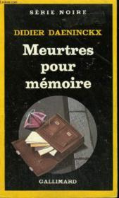 Collection : Serie Noire N° 1945 Meurtres Pour Memoire - Couverture - Format classique