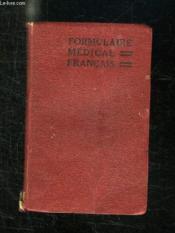 Formulaire Medical Francais. - Couverture - Format classique