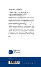 2057, les 100 ans du traite de rome - 4ème de couverture - Format classique