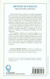 Retour Au Dogon ; Figures Du Double Et Ambivalence - 4ème de couverture - Format classique