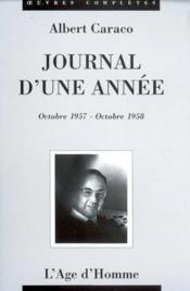 Journal d'une année 1957-1958 - Couverture - Format classique
