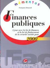 Finances publiques 2000 - Intérieur - Format classique