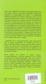 La micropsychanalyse - 4ème de couverture - Format classique