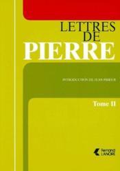 Lettres de Pierre t.2 - Couverture - Format classique