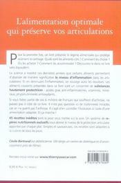 La diététique anti-arthrose - 4ème de couverture - Format classique