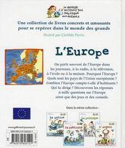 L'Europe - 4ème de couverture - Format classique