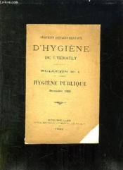 Bulletin N° 1. Hygiene Publique. Decembre 1923. - Couverture - Format classique