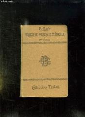Precis De Pratique Medicale . Tome 1: Deontologie, Medicaments, Regimes, Agents Physiques, Operations Usuelles, Recherches De Laboratoires... - Couverture - Format classique