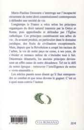 La République organique en France - 4ème de couverture - Format classique