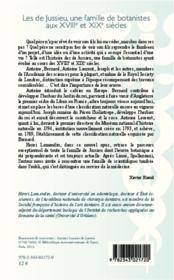 Les de Jussieu ; une famille de botanistes aux XVIIIe et XIXe siècles - 4ème de couverture - Format classique