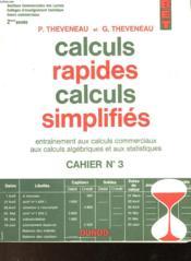 Calculs Rapides Calculs Simplifies - Couverture - Format classique