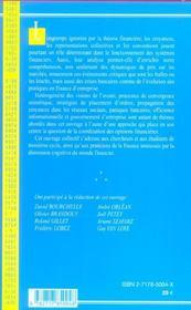 Croyances, Representations Collectives Et Conventions En Finance - 4ème de couverture - Format classique