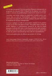 Les Etats-Unis Et Le Monde Rapports De Puissance 1898-1998 - 4ème de couverture - Format classique