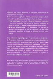 L'intelligence de l'explication de texte 30 modeles de commentaires 40 clefs pour aller coeur texte - 4ème de couverture - Format classique