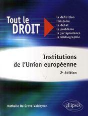 Institutions de l'union européenne (2e édition) - Intérieur - Format classique