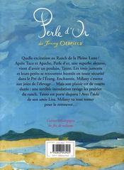 Le Ranch De La Pleine Lune T.12 ; Perle D'Or - 4ème de couverture - Format classique