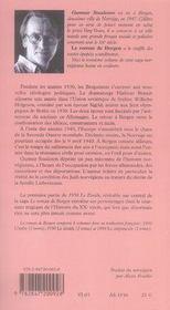 Le roman de bergen, 1950 le zénith t.1 - 4ème de couverture - Format classique