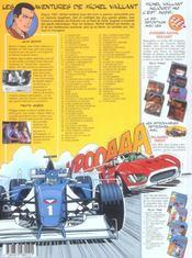 Michel vaillant t.51 ; le caid de francorchamps - 4ème de couverture - Format classique