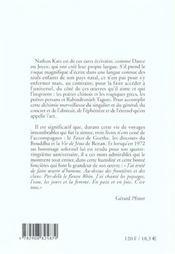Oeuvre poetique - 4ème de couverture - Format classique