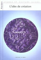 Pardes 31/2001 l'idee de creation - Intérieur - Format classique