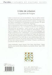 Pardes 31/2001 l'idee de creation - 4ème de couverture - Format classique