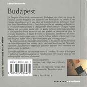 Guide D'Architecture Du Xxeme Siecle Budapest - 4ème de couverture - Format classique