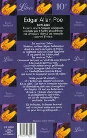 Chute maison usher&autres - 4ème de couverture - Format classique
