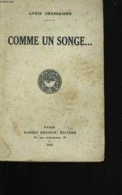 Comme Un Songe. - Couverture - Format classique