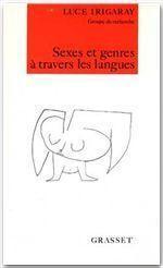 Sexes et genres à travers les langues - Couverture - Format classique