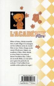 L'académie Alice t.1 - 4ème de couverture - Format classique