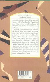 Les chemins de Buenos Aires (la traite des blanches) - 4ème de couverture - Format classique