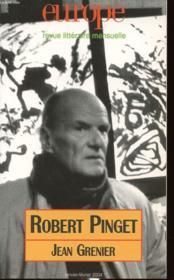 Revue Europe N.898 ; Robert Pinget, Jean Grenier - Couverture - Format classique