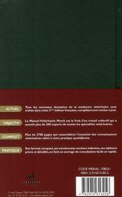 Le manuel vétérinaire Merck (3e édition) - 4ème de couverture - Format classique