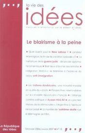La vie des idées t.18 ; le blairisme à la peine - Intérieur - Format classique