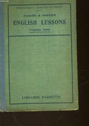 English Lessons - 3° Annee - Couverture - Format classique