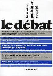 Revue Le Débat N.142 ; novembre-décembre 2006 - Intérieur - Format classique