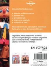 Italien (11e édition) - 4ème de couverture - Format classique