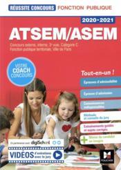 Réussite concours ; ATSEM/ASEM ; concours externe, interne, 3e voie, catégorie C (édition 2020/2021) - Couverture - Format classique