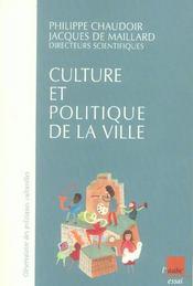 Culture Et Politique De La Ville - Intérieur - Format classique