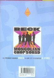 Beck t.15 - 4ème de couverture - Format classique